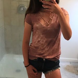 American Eagle Soft & Sexy Ribbed Tee